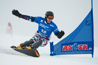 """FIS Snowboard World Cup - Sudelfeld GER  - Parallel Giant Slalom - PGS  - SOBOLEV Andrey RUS © Miha Matavz"""