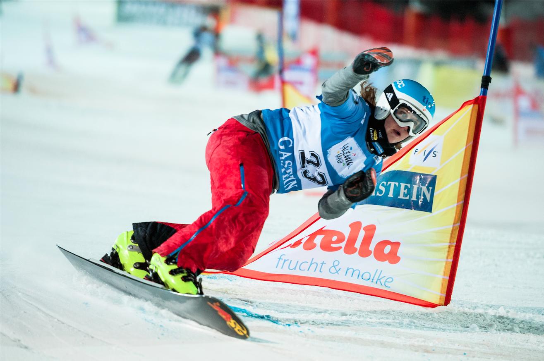 Michelle Dekker NL, Badgastein, Action SG Snowboards1