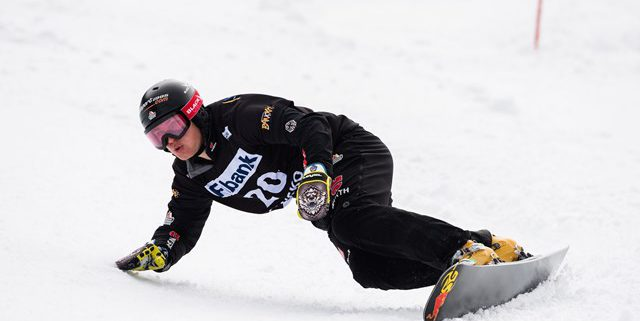 SG SNOWBOARDS Stefan Baumeister Snowboard World Cup PGS Bansko Bulgaria 3rd Pic by FIS:Miha Matavz