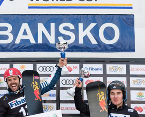 SG SNOWBOARDS Sylvain Dufour Gold Parallel Giant Slalom Bansko Bulgaria Feb 2017 by FIS:Miha Matavz2